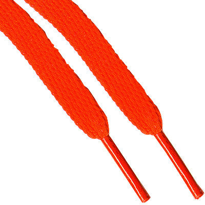 Shoe Laces Wide - Neon Orange