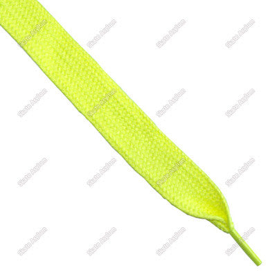 Shoe Laces Wide - Neon Yellow