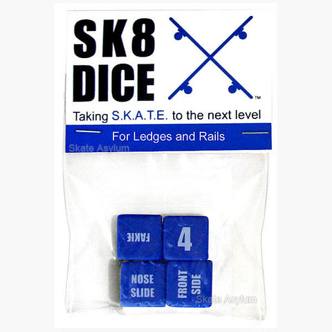 Sk8 Dice Ledges/Rails - Blue