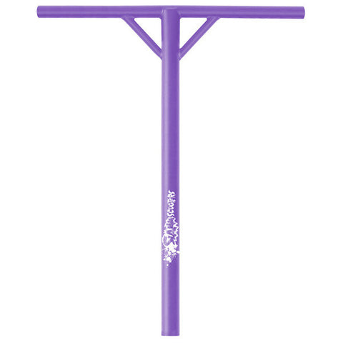Slamm Back Sweep Y Scooter Bars Purple