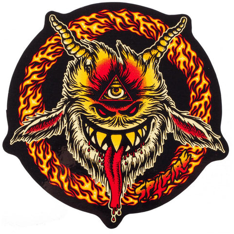 Spitfire Touch of Satan Sticker