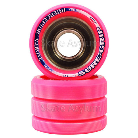 Sure Grip Interceptor 62mm Wheels - Pink