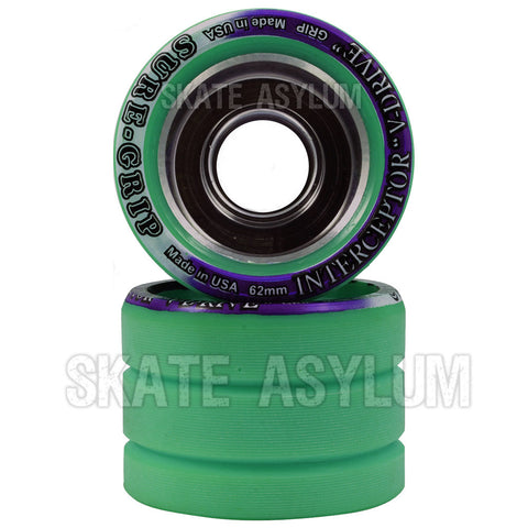 Sure Grip Interceptor 62mm Wheels - Teal
