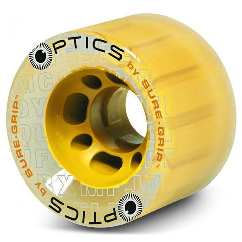 Sure Grip Optics Clear Quad Wheels - Yellow Hub