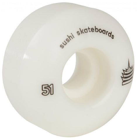 Sushi Skateboards Padoda Team Wheels White 51mm