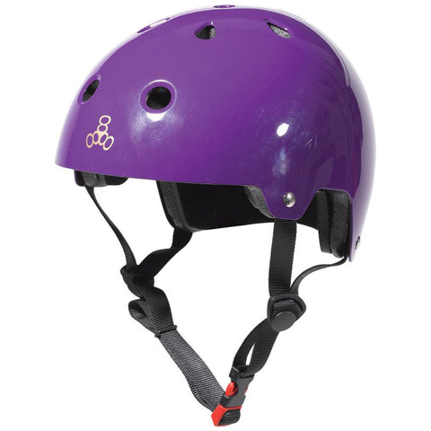 Triple 8 Helmet Purple Gloss