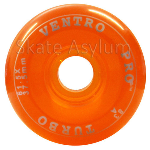 Ventro Pro 61.5mm Roller Skate Wheels - Clear Orange