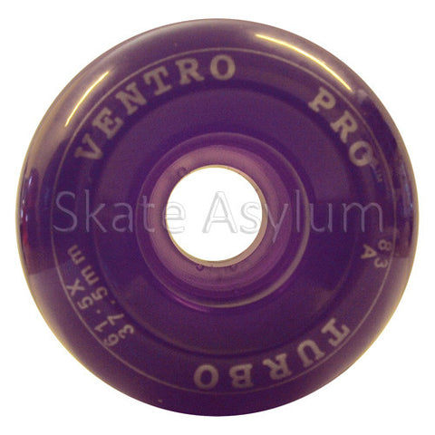 Ventro Pro 61.5mm Roller Skate Wheels - Clear Purple