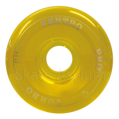 Ventro Pro 61.5mm Roller Skate Wheels - Clear Yellow