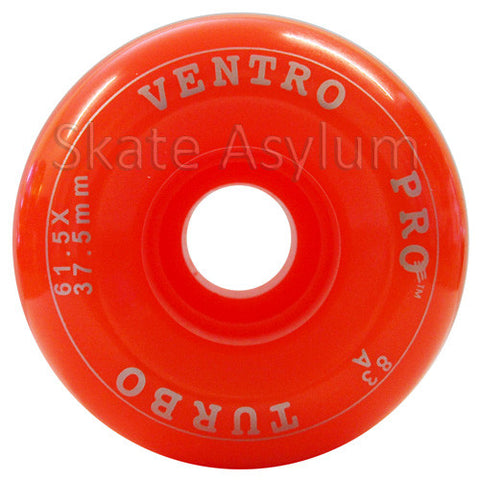 Ventro Pro 61.5mm Roller Skate Wheels - Solid Orange