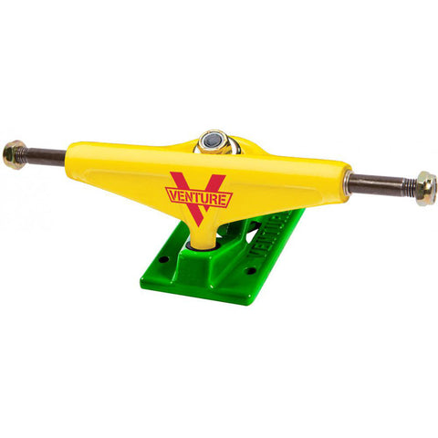 Venture 5.0 Low Skateboard Trucks Rasta