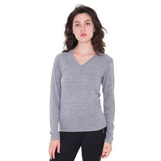 Tri-blend long sleeve v-neck (TR476) AA009