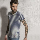 Boson - stripe contrast t-shirt BS191 - Fashion At Work (UK) Ltd