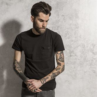 Faustian - t-shirt with zip chest pocket BS192 - Fashion At Work (UK) Ltd