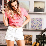 Miley - ladies high waist denim short BS210