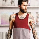 Hecate - two tone solid & stripe vest BS227 - Fashion At Work (UK) Ltd