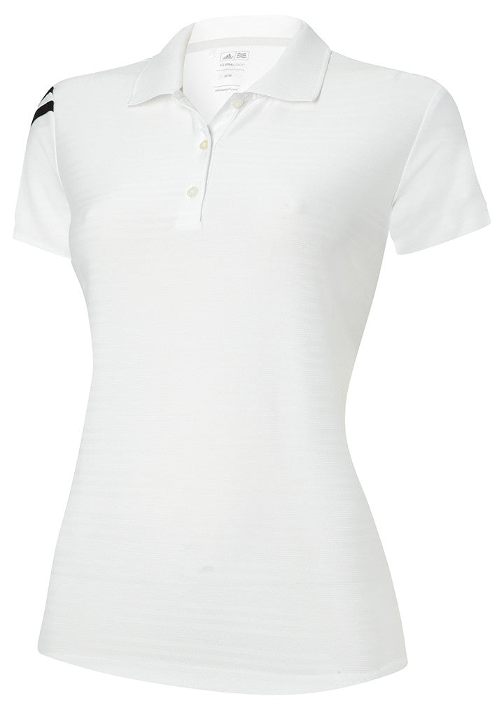 Women's corporate 3 stripe polo AD034