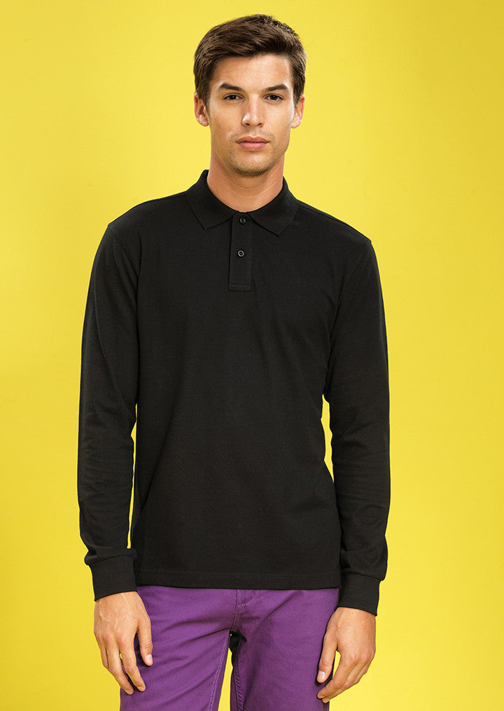Men's classic fit long sleeved polo AQ030