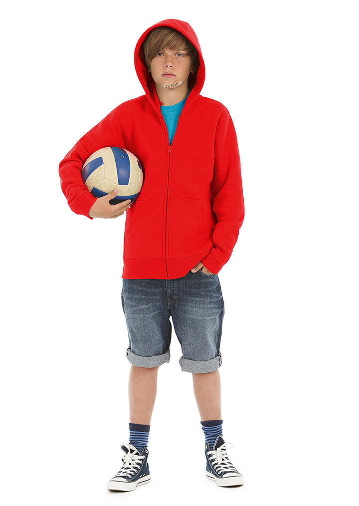 B&C Hooded full zip /kids B421B - Fashion At Work (UK) Ltd