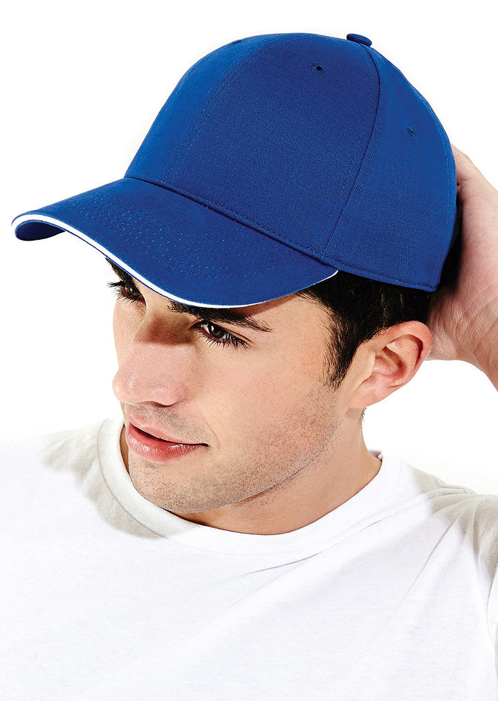 Athleisure 6 panel cap BC020 - Fashion At Work (UK) Ltd