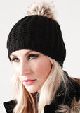 Faux fur pom pom beanie BC416 - Fashion At Work (UK) Ltd