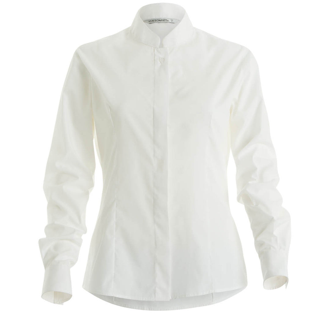 Women's Mandarin Collar Fitted Shirt Long Sleeved KK261