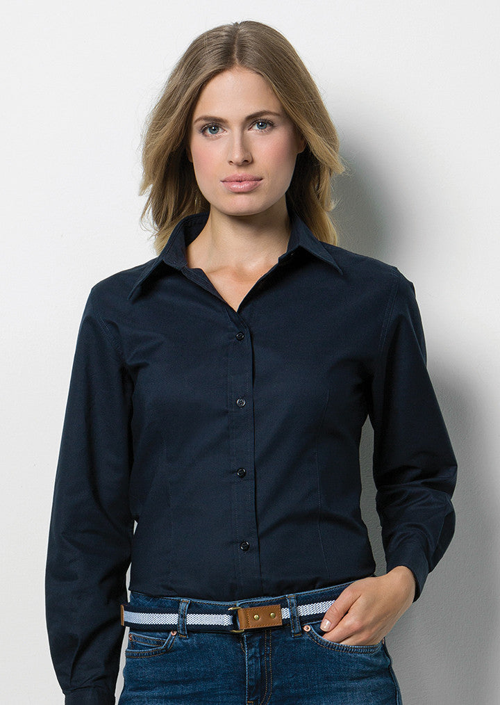 Women's Workplace Oxford Blouse Long Sleeved KK361
