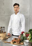Studded Front Long Sleeve Chef's Jacket PR665