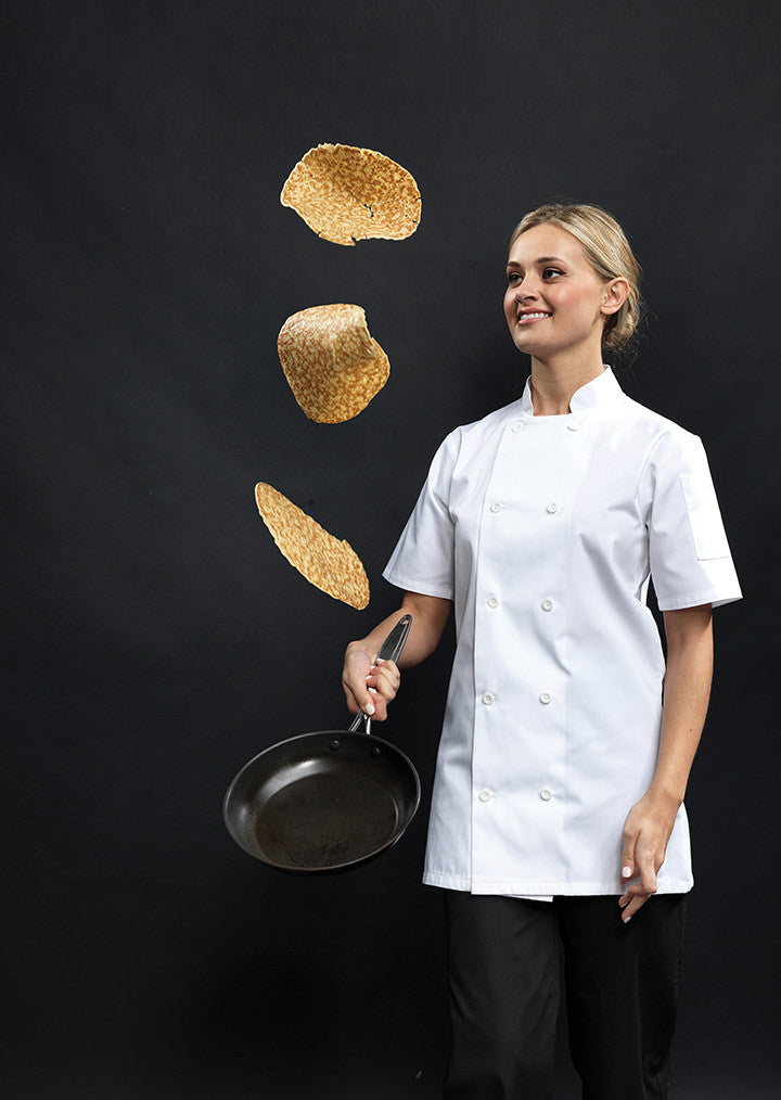 Women's Short Sleeve Chef's Jacket PR670