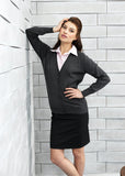 Ladies V Neck Cardigan PR697 - Fashion At Work (UK) Ltd