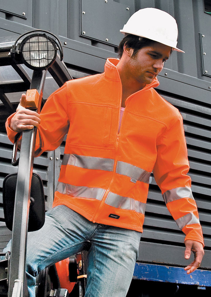 Core high viz winter softshell EN471 Class 2 R117A - Fashion At Work (UK) Ltd