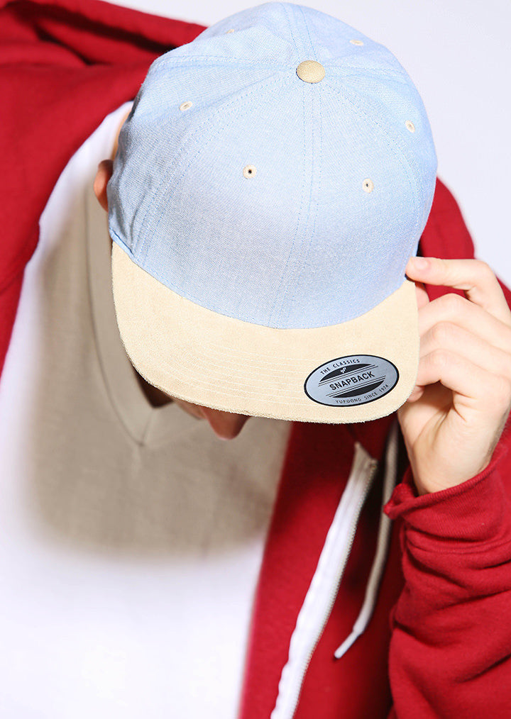 ... Chambray-suede snapback (6089CH) YP009 - Fashion At Work (UK) Ltd ... 12a20fc6d0d4