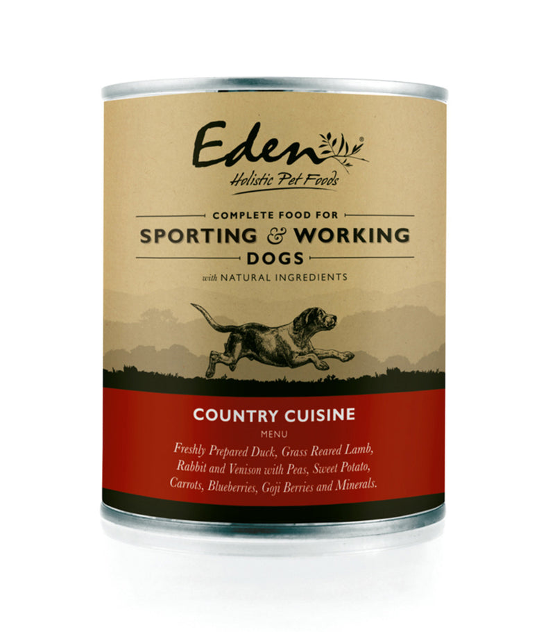 Eden Country Cuisine Wet Working Dog Food 6 x 400g Tins