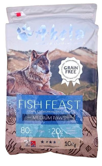 Akela Fish Feast 80:20 Grain Free Working Dog 10kg