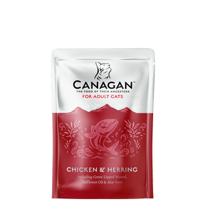 Canagan Wet Chicken & Herring 8 X 85g Pouches - Fairpet