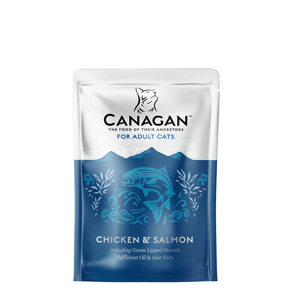 Canagan Chicken & Salmon Cat Food 8 x 85g Wet Pouches