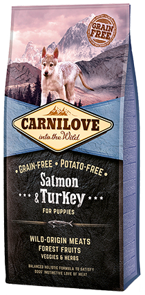 CARNILOVE PUPPY SALMON & TURKEY 12KG - Fairpet