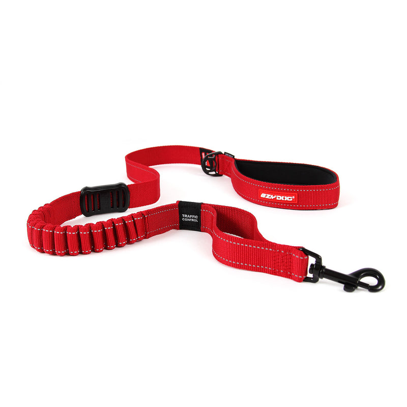 EzyDog Zero Shock Dog Lead 48inch Red