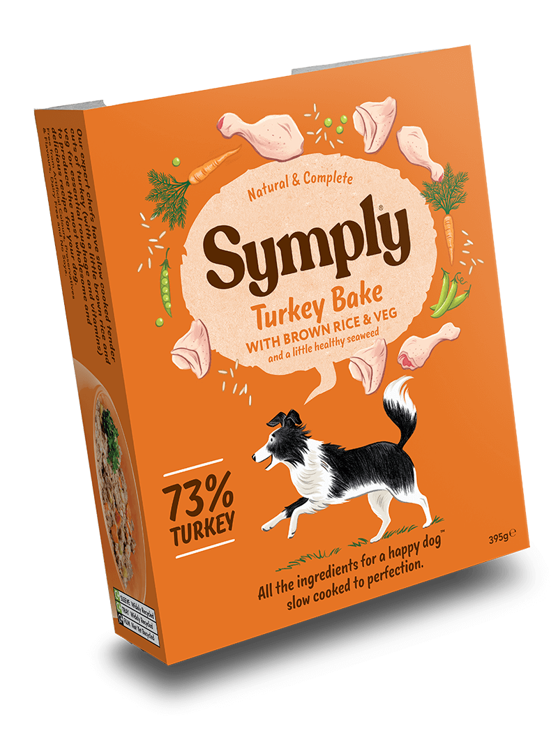Symply Turkey with Brown Rice For Adult Dogs 7 x 395g Wet Trays
