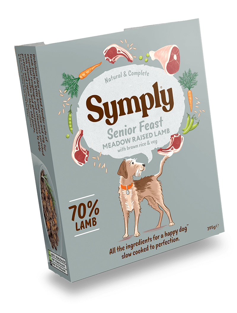 Symply Lamb with Brown Rice For Senior Dogs 7 x 395g Wet Trays