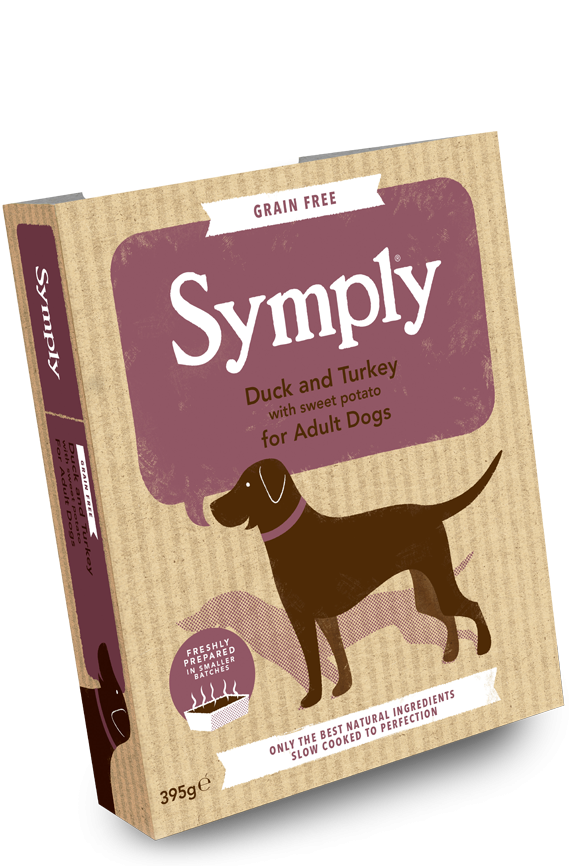 Symply Duck and Turkey with Sweet Potato for Adult Dogs 7 x 395g Wet Trays