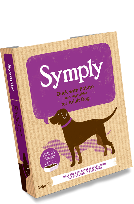 Symply Duck with Potato for Adult Dogs 7 x 395g Wet Trays