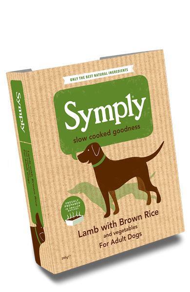 Symply Lamb with Brown Rice For Adult Dogs 7 x 395g Wet Trays