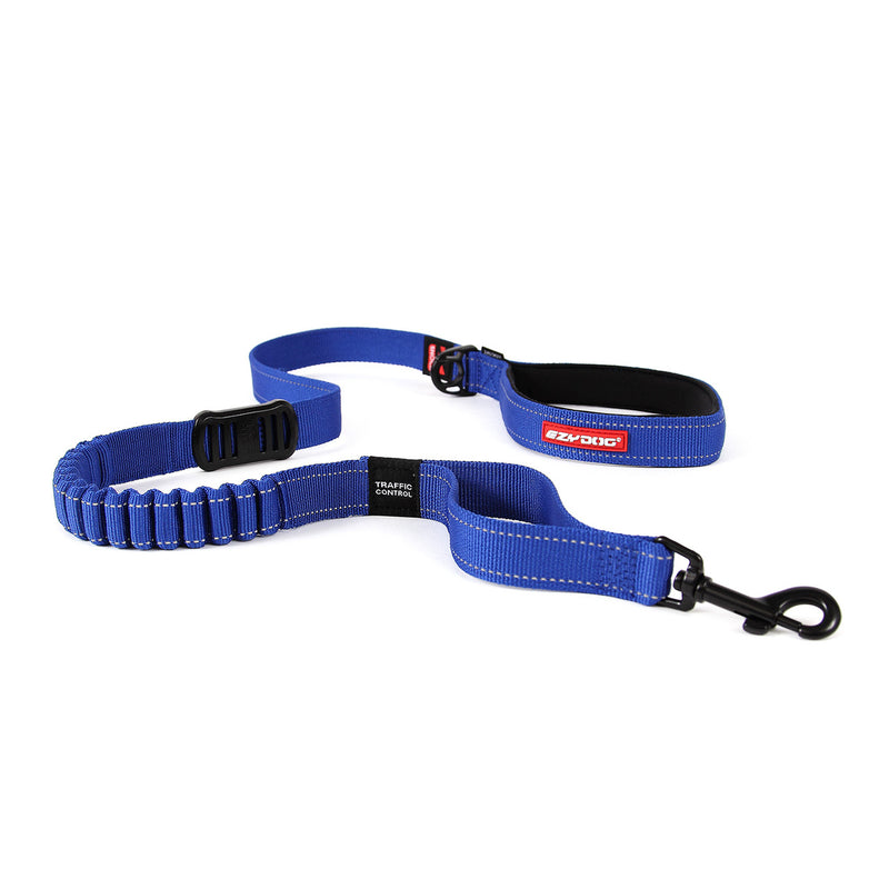 EzyDog Zero Shock Dog Lead 25inch Blue