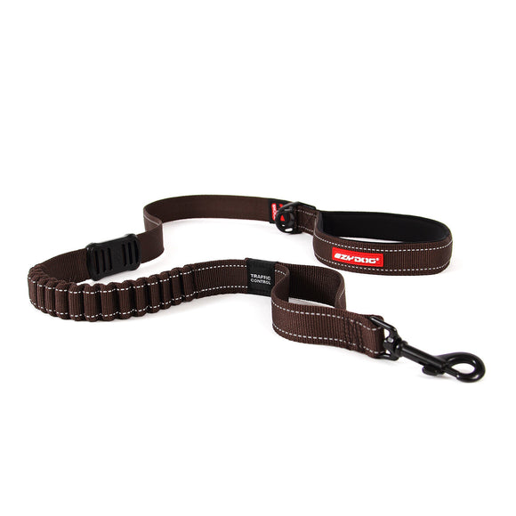 EzyDog Zero Shock Dog Lead 25inch Chocolate