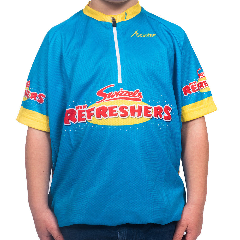 Kids Refreshers Blue Cycling Jersey
