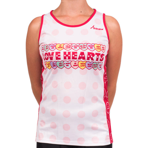 Love Hearts Running Vest