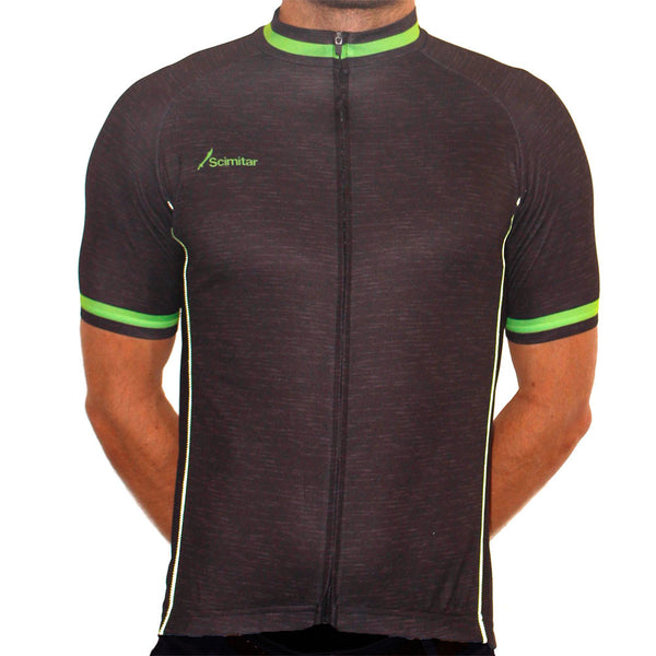 Contrast Green Cycling Jersey