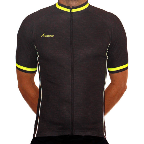 Contrast Yellow Cycling Jersey