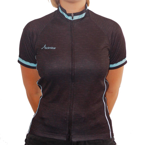 Contrast Blue Cycling Jersey